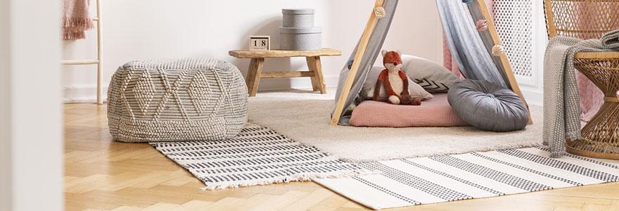 Les matières idéales du tapis sur mesure